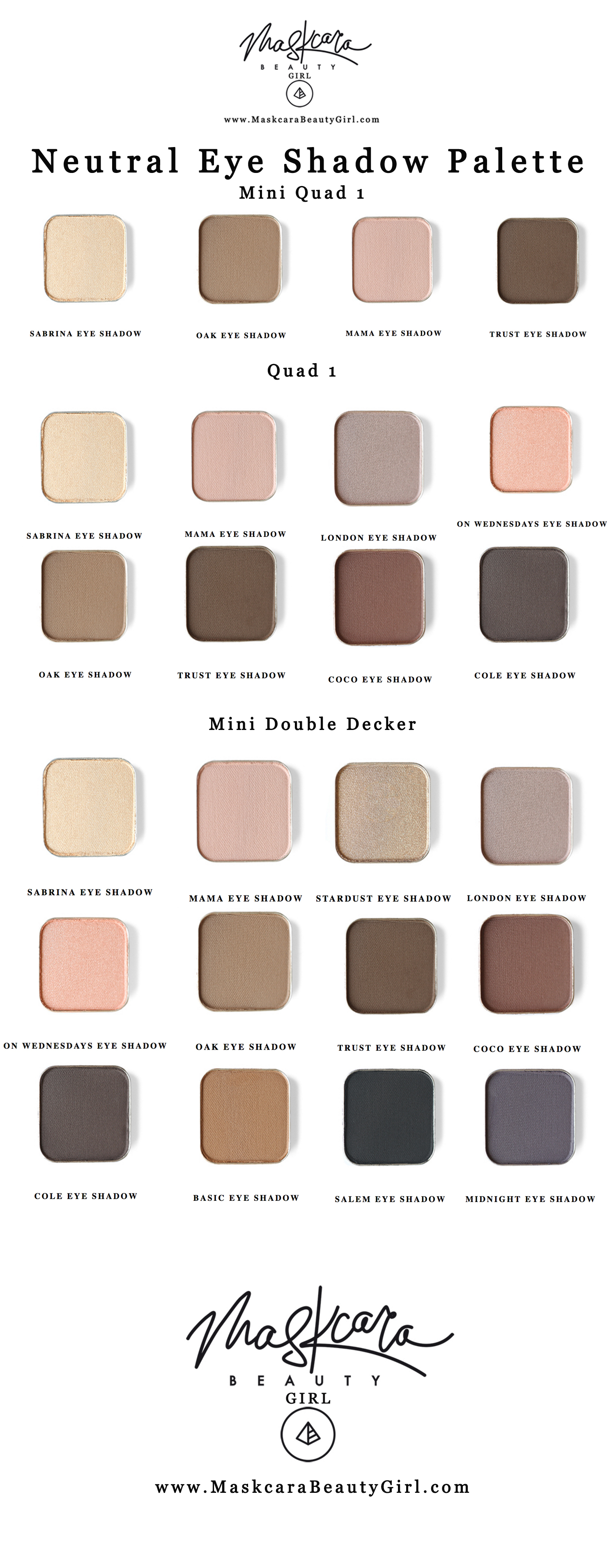 Best Neutral Eyeshadow Palette with Maskcara Makeup, with www.MaskcaraBeautyGirl.com