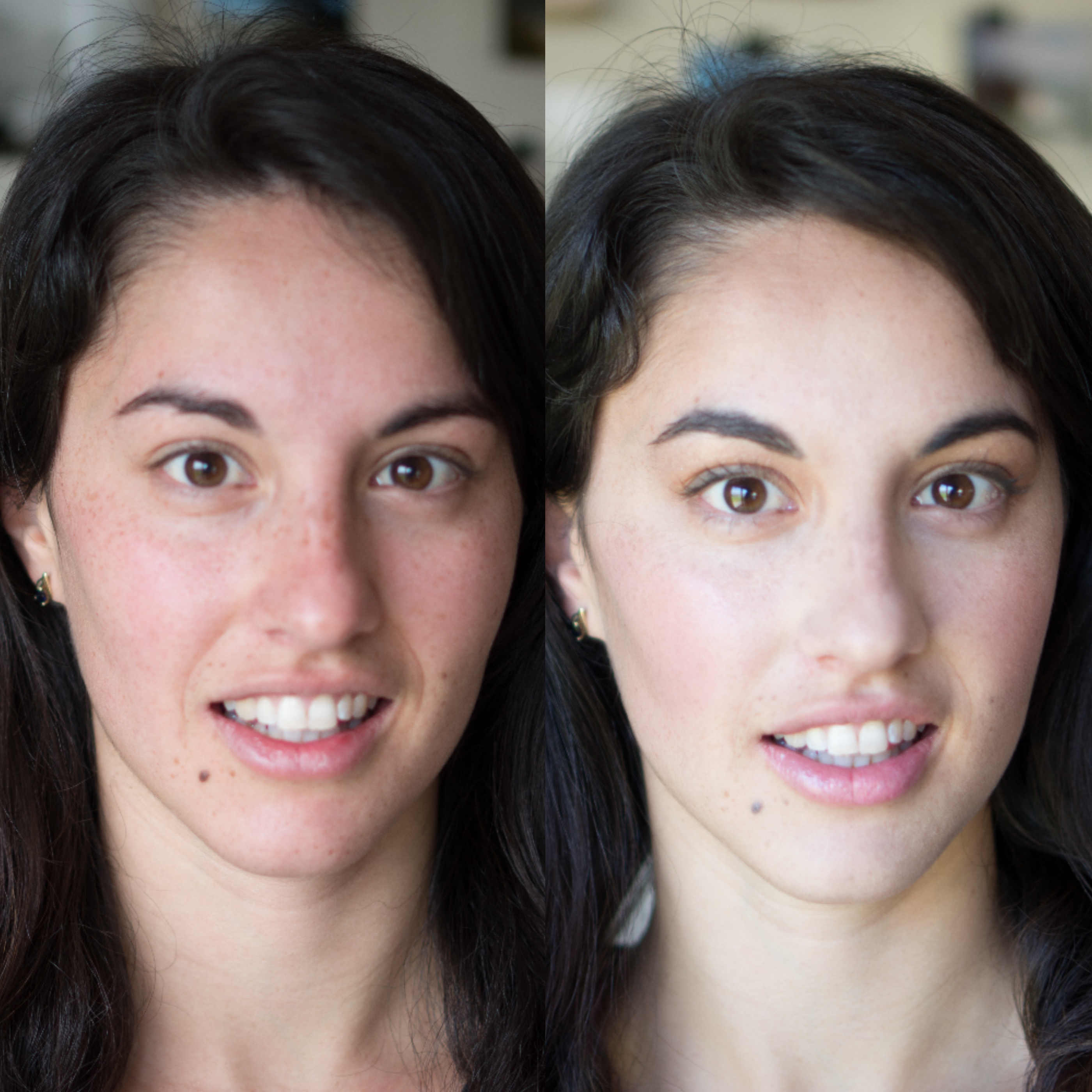 Before and after with Maskcara makeup on www.maskcarabeautygirl.com, we share a simple and natural every day look that can be easily achieved with one compact from Maskcara Beauty