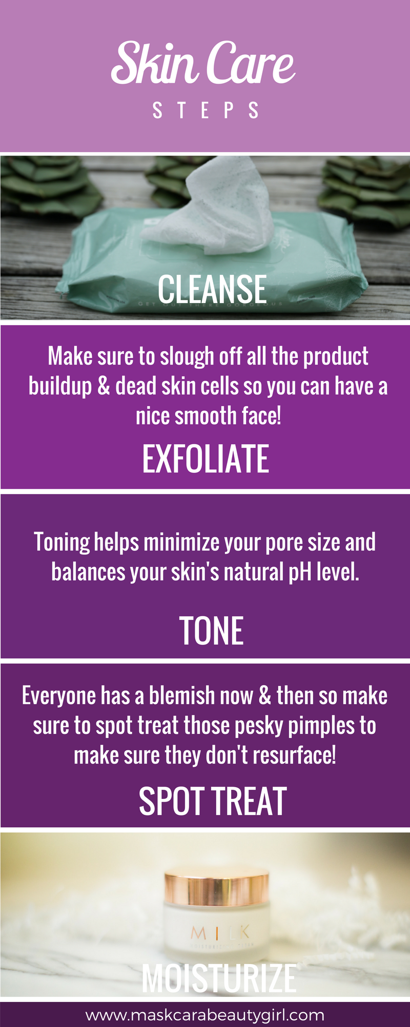 5 Essential Skin Care Steps for any woman with www.maskcarabeautygirl.com, learn how our Maskcara Beauty Girl aesthetician takes care of her skin daily.