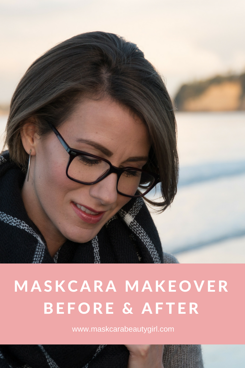 Maskcara Makeover Before and After with Maskcara Beauty Girls at www.maskcarabeautygirl.com A stunning before and after using Mascara Beauty products and HAC pack.