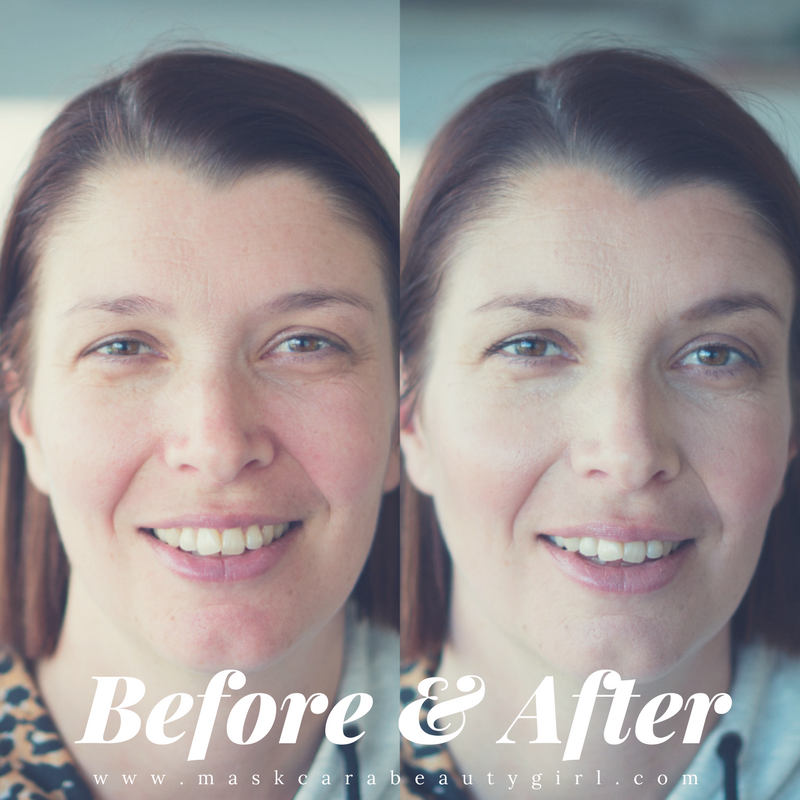 Natural Beauty Mom before and after with Maskcara Beauty Girl at www.maskcarabeautygirl.com, see how to easily create a simple natural beauty mom look