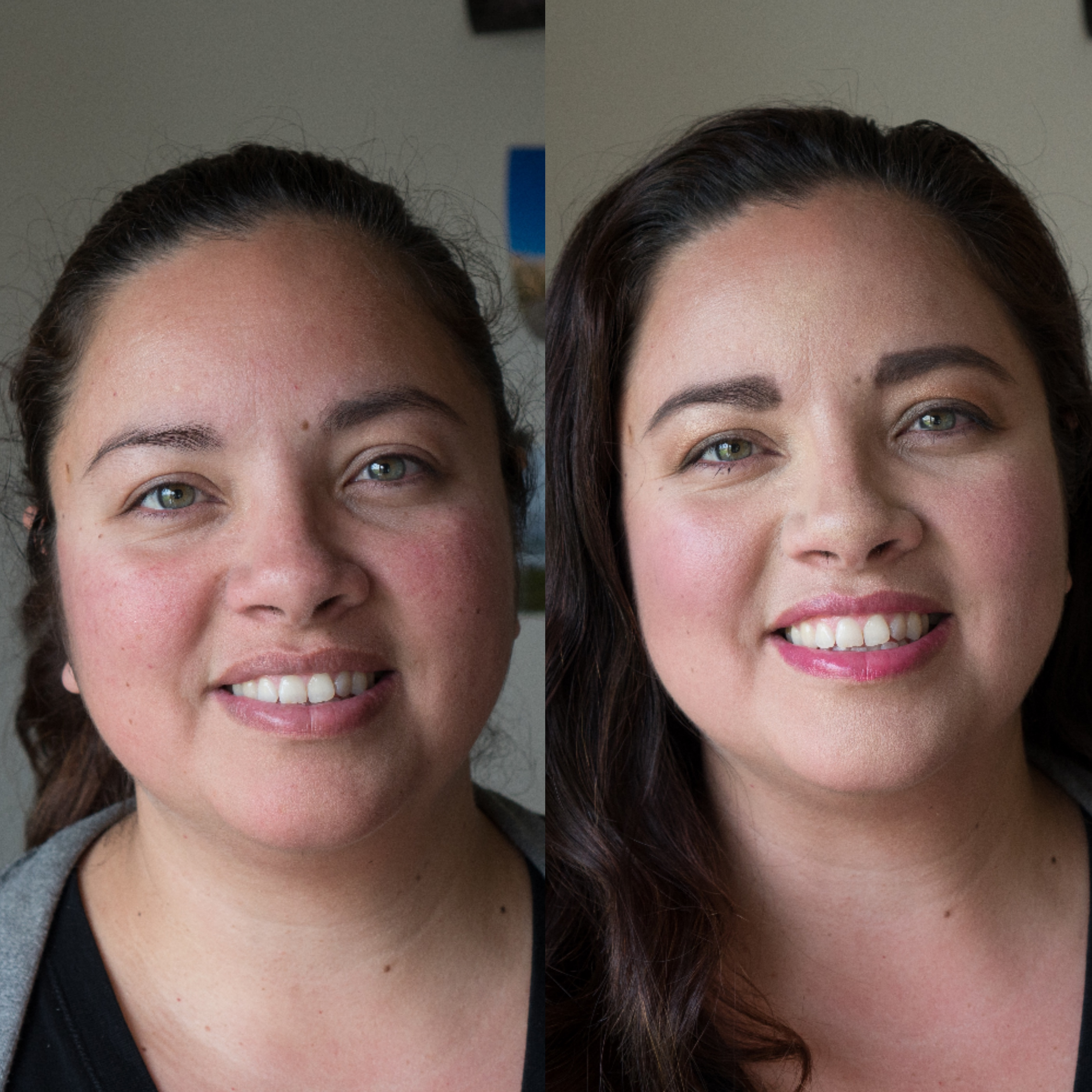 Before and after from mom to wow makeover with Maskcara Beauty Girl on www.maskcarabeautygirl.com, come see how to makeover a beautiful face and what products were used.