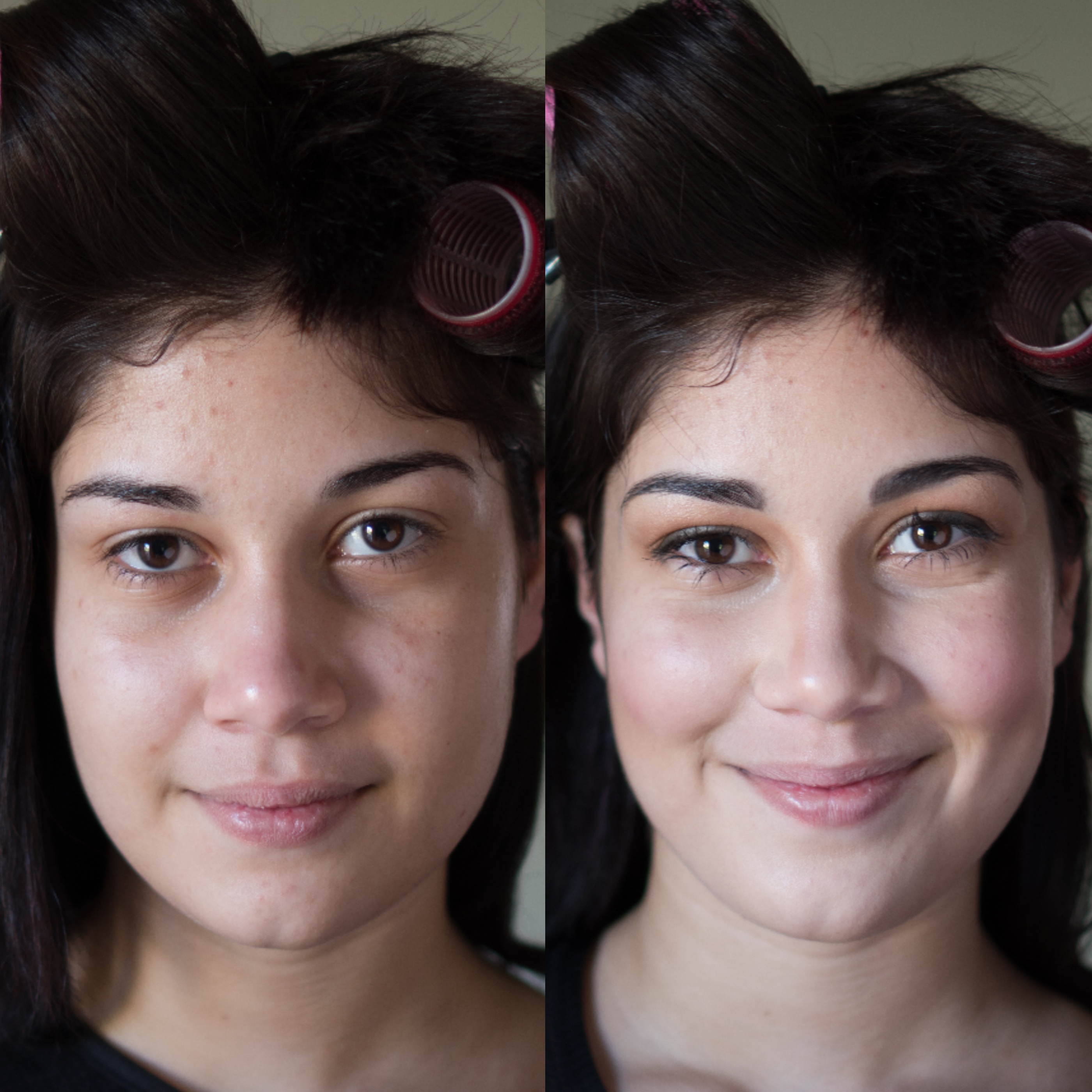 Before and After college ball princess look with Maskcara Beauty Girl at www.maskcarabeautygirl.com