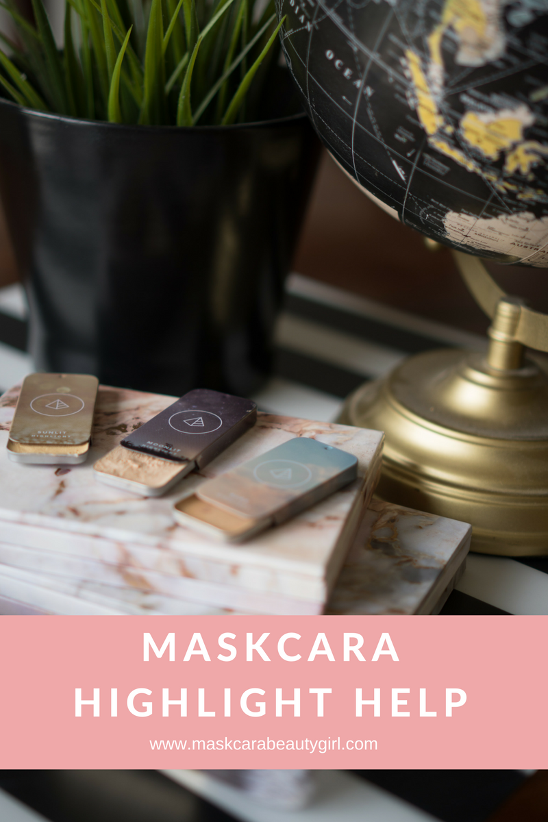 Maskcara Highlight Help with Maskcara Beauty Girl at www.maskcarabeautygirl.com, see what highlight color is best for your beautiful skin.