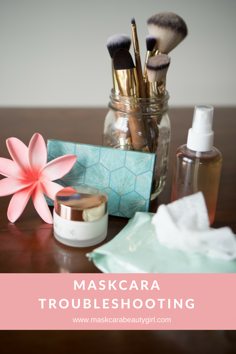 Maskcara Troubleshooting Tips with Maskcara Beauty Girl at www.maskcarabeautygirl.com, come learn how to make Maskcara makeup work well with your skin.