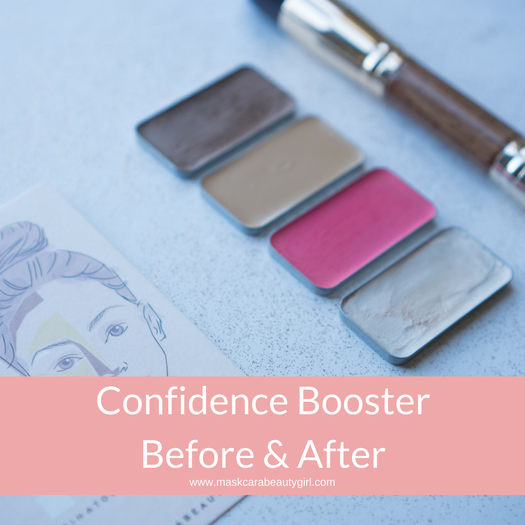 Confidence Booster Before and After with Maskcara Beauty Girl at www.maskcarabeautygirl.com