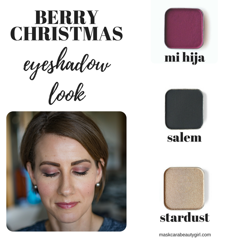 Berry Christmas Eyeshadow Look with Maskcara Beauty Girl at www.maskcarabeautygirl.com
