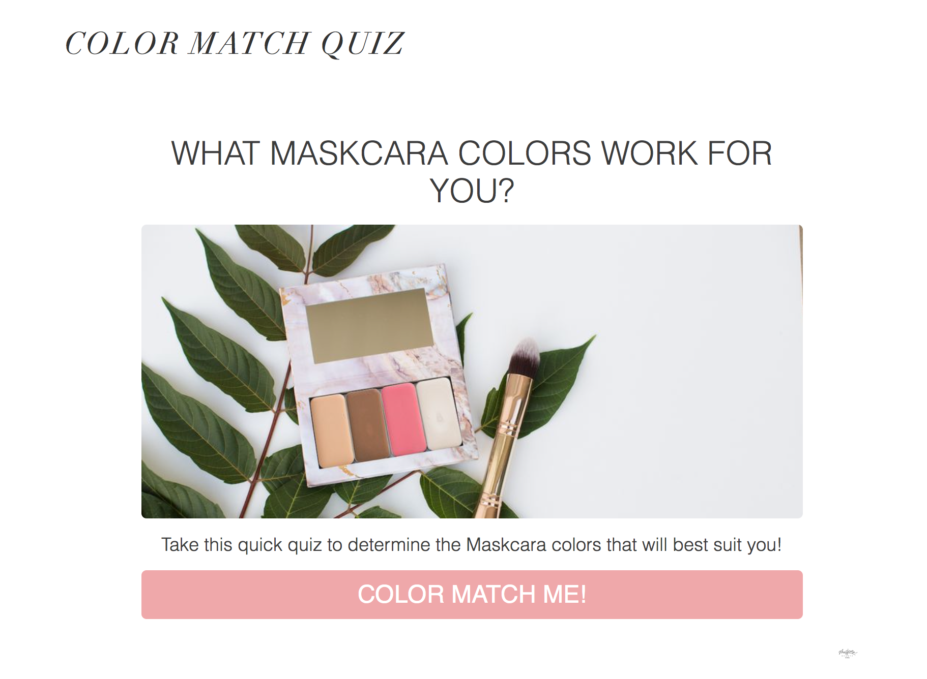 The Correct Way to Do a Maskcara Color Match